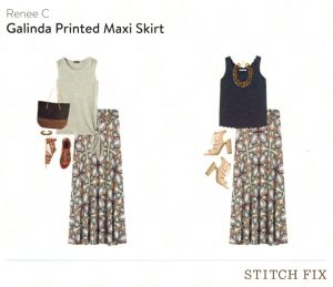 Renee C Galinda Printed Maxi Skirt