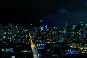 Night view of Vancouver, BC